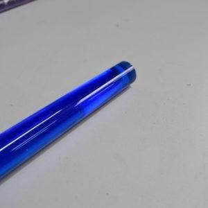 Tige plexiglas bleu foncé