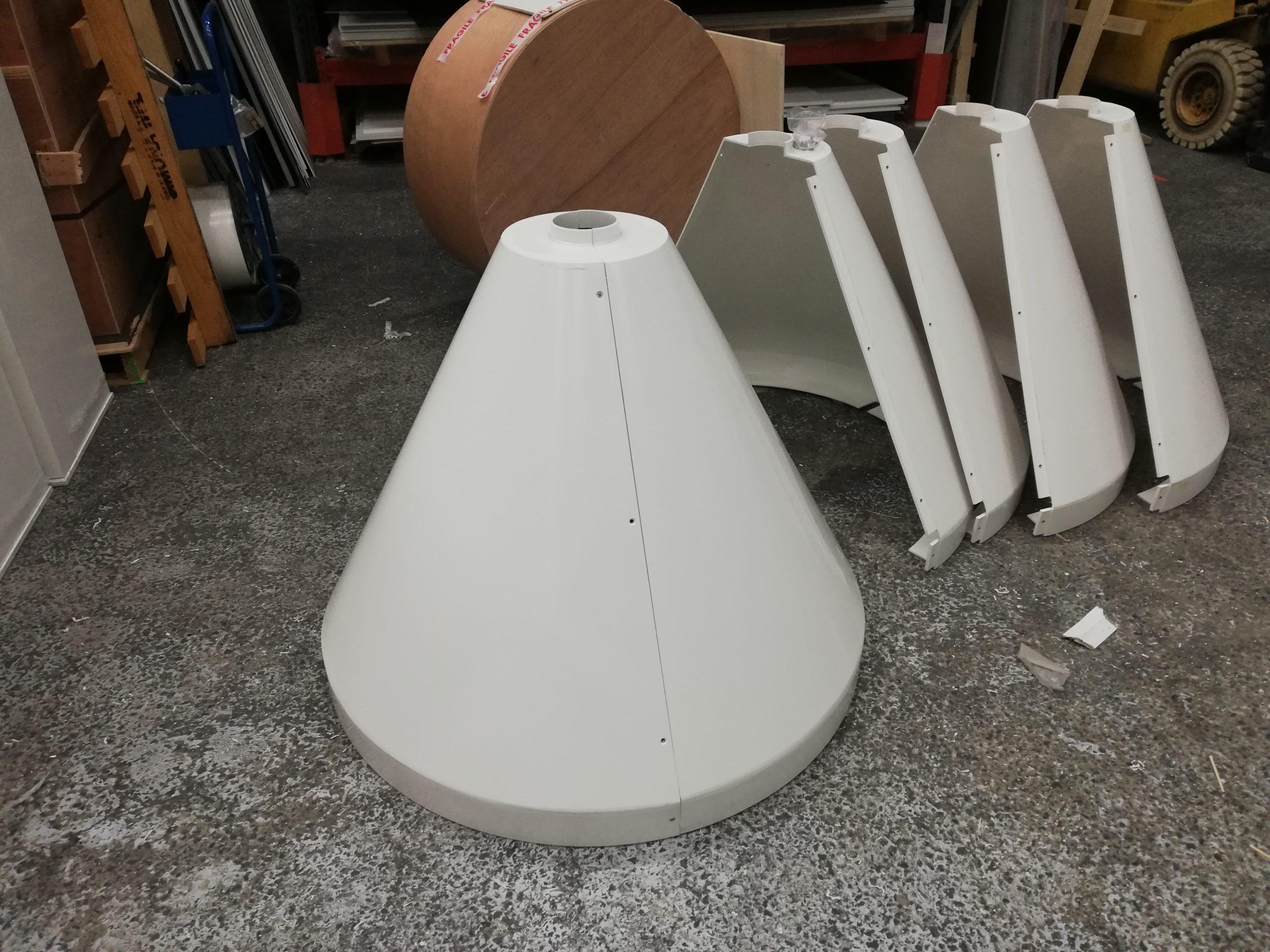 Cône en PVC sur mesure